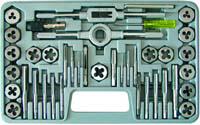 Набор метчиков и плашек 40 предм. М3-М12 в кейсе (70807)