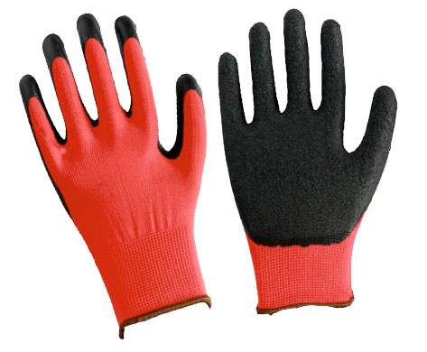 Перчатки нейлон, с вспененным латексным обливом