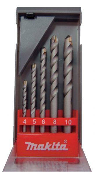 Набор сверл по бетону MAKITA 4,5,6,8,10 мм/D-05175