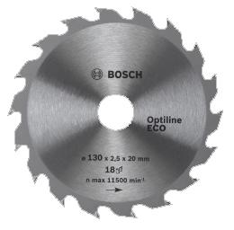 Диск пильный по дереву 160*20/16*36T BOSCH Optiline ECO/2.608.641.786