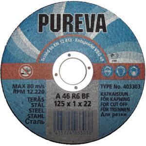 Круг   отрезной 125х1,0х22 PUREVA/403303