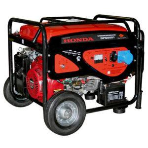 Генератор бензиновый DDE DPG6551 (генер230В,5кВт/5.5кВА, двигат.HondaGX3,25л,86кг) **