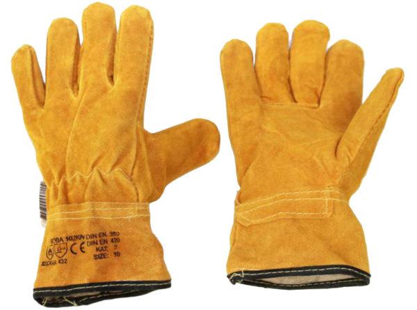 Перчатки спилковые, с кевларовой нитью
