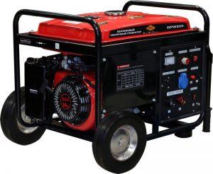 Генератор сварочный бензин  DDE DPW200 (230В,4кВт,210А,бак25-8чл,колеса) **
