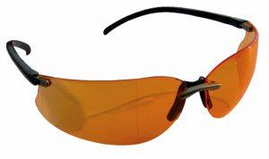 Очки защитные MAKITA M-FORCE оранжевые с чехлом /P-66363