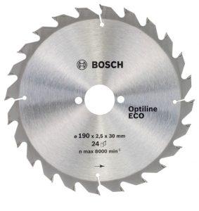 Диск пильный по дереву 190*30*24T BOSCH Optiline ECO/2.608.641.789