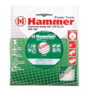 Диск алмазный 125х22 сегм. HAMMER/бетон , кирпич
