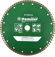 Диск алмазный 230х22 турбо HAMMER/бетон , кирпич