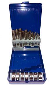 Набор метчиков и плашек 29 предм. М3-М12 в метал.коробке CZB-29 HSS FANAR (Z1-029012-0000)