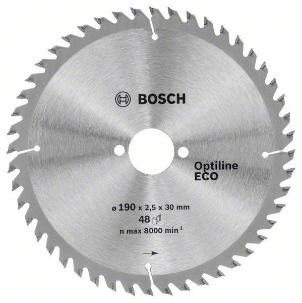 Диск пильный по дереву 190*30*48T BOSCH Optiline ECO/2.608.641.790