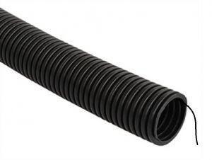Труба гофрированная ПНД 16мм с зондом черная (100м)