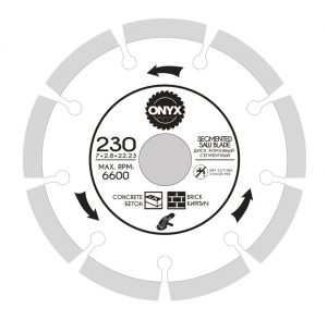 Диск алмазный 230х22 сегм. ONYX/бетон , кирпич
