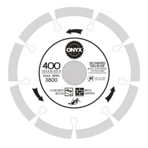Диск алмазный 400х25,4 сегм.  ONYX/бетон