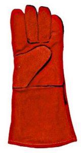Краги спилковые КРАСНЫЕ с кевларовой нитью (на подкладке)