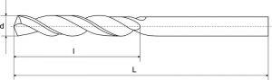 Сверло ц/х d  0,8 мм