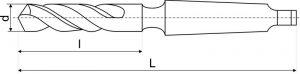 Сверло к/х d  8,0 мм Р6М5 (ТИЗ)