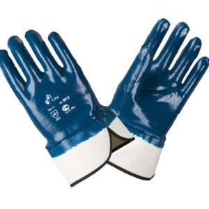 """Перчатки облитые  """"нитрил"""" синие"""